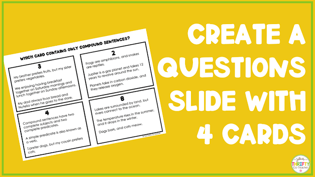 Create the slides for your classroom escape room.