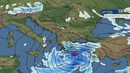 Μαρουσάκης: H πορεία των χιονοπτώσεων τις επόμενες ώρες - Νέο κύμα χιονιά την Δευτέρα