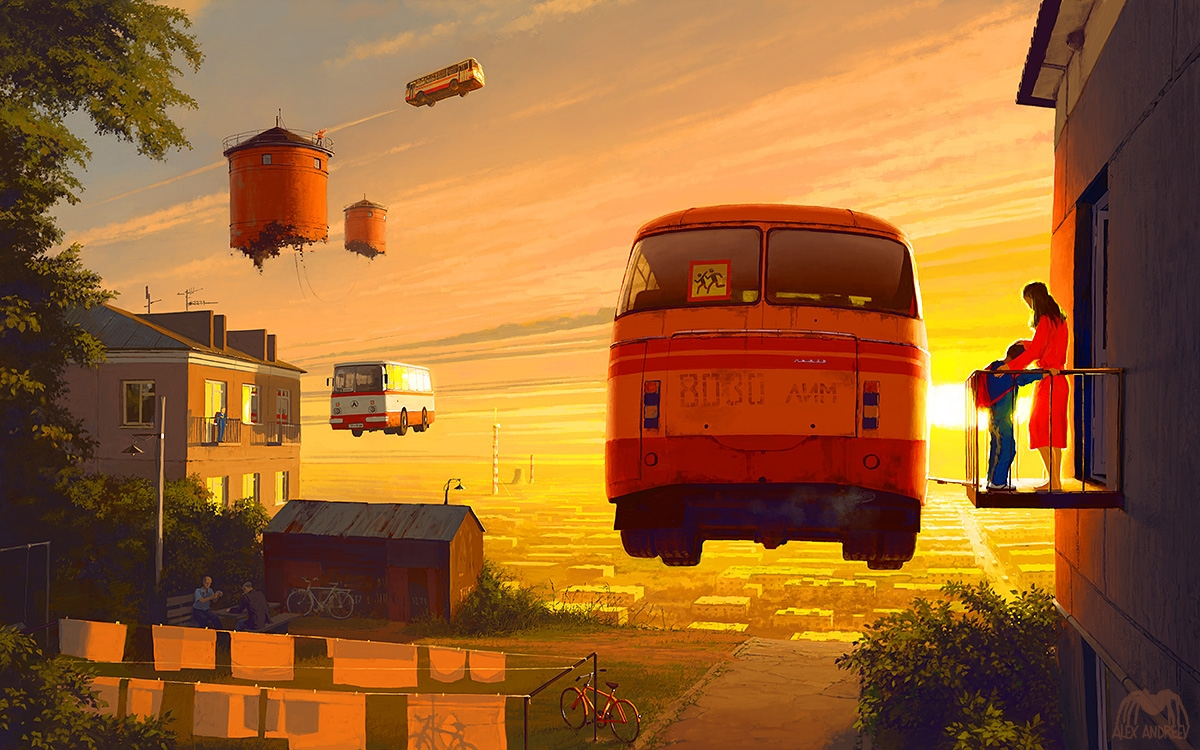 01-Homeland-8-00-AM-Alex-Andreyev-Surreal-Paintings-or-a-Vision-of-the-Future-www-designstack-co