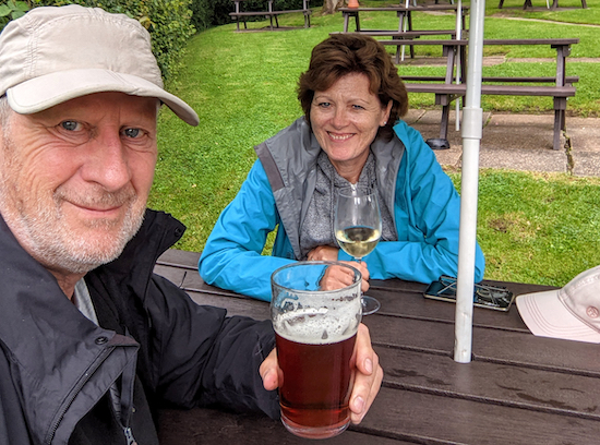 Ellie and Dave Brewer at The Woodman, Wildhill