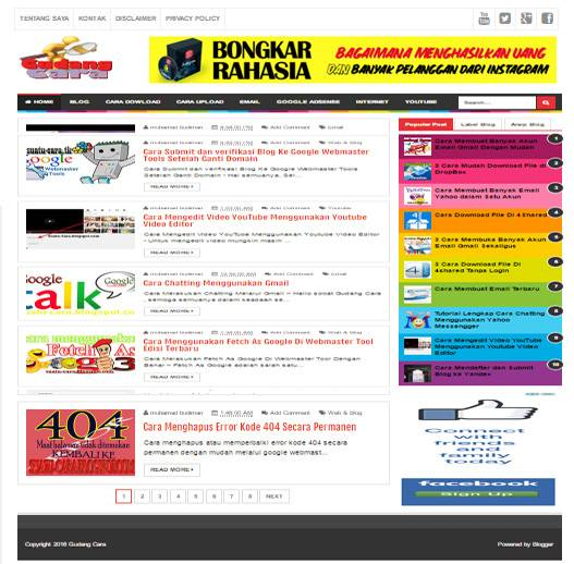 merupakan salah satu template yang paling banyak dipakai oleh blogger indonesia Free Template Evo Magz V4.7 Terbaru RESPONSIVE & SEO Friendly