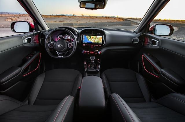 Interior view of 2020 Kia Soul GT-Line 1.6 Turbo.