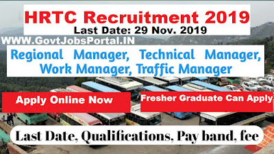 HRTC Manager Recruitment 2019