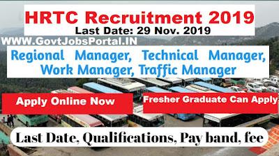 HRTC Manager Recruitment 2019