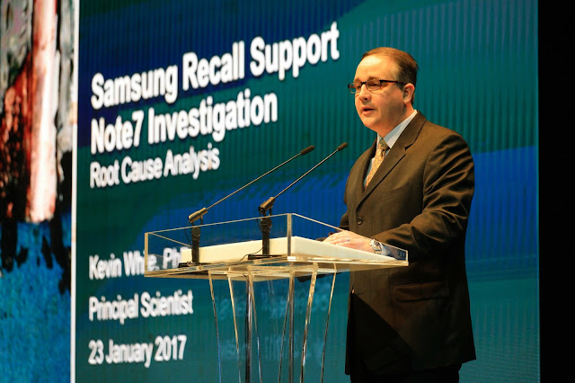Samsung Electronics Announces Cause of Galaxy Note7 Incidents in Press Conference