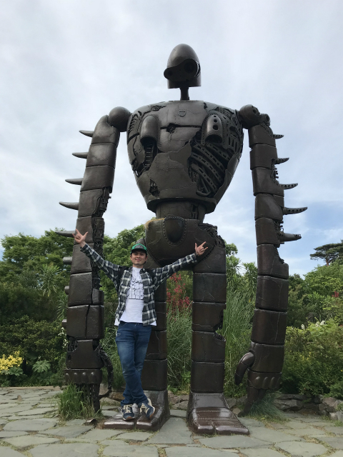 巨神兵との写真です@三鷹の森ジブリ美術館