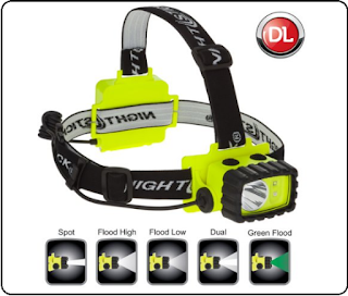 Intrinsically Safe Headlamp : Nightstick XPP-5458G.