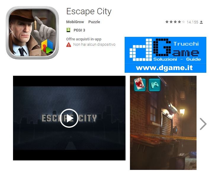 Soluzioni Escape City di tutti i livelli | Walkthrough guide