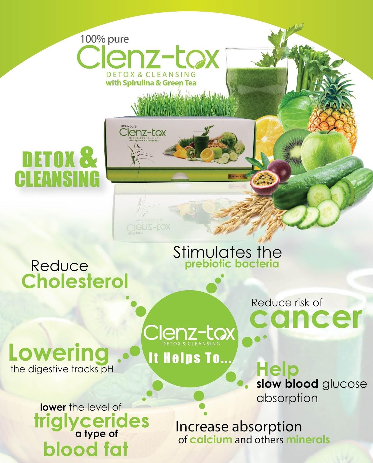 Clenz-Tox baik untuk detox | GC Tea Penawar Kencing Manis