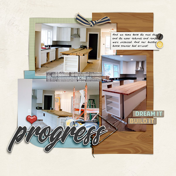 Digital Scrapbook Page by Scrapping with Liz