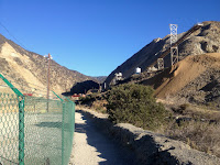 Heading north from the trailhead on the Fish Canyon access trail into Vulcan's quarry