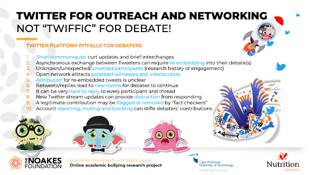 "TWITTER FOR OUTREACH AND NETWORKING NOT ""TWIFFIC"" FOR DEBATE!"