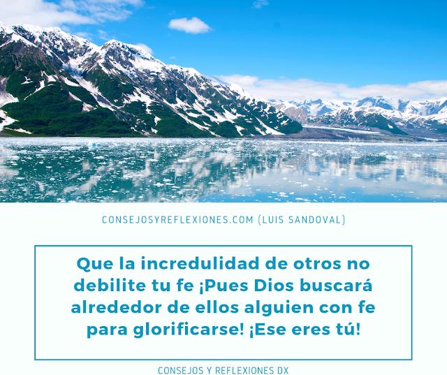 tener fe en Dios