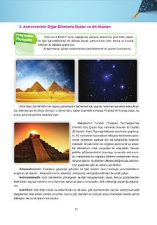 Astronomi ve Uzay Bilimleri Ders Kitabı Cevapları Ata Yayınları Sayfa 21