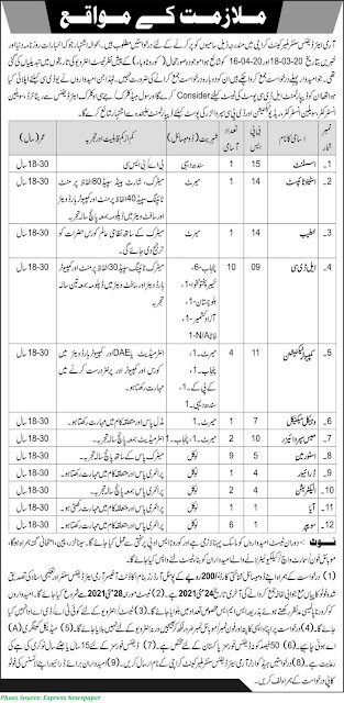 Join Pak Army as Civilian 2021 Army Air Defense Center Karachi Cantt Jobs 2021 Assistant, Stenotypist, LDC, Technicians and Others