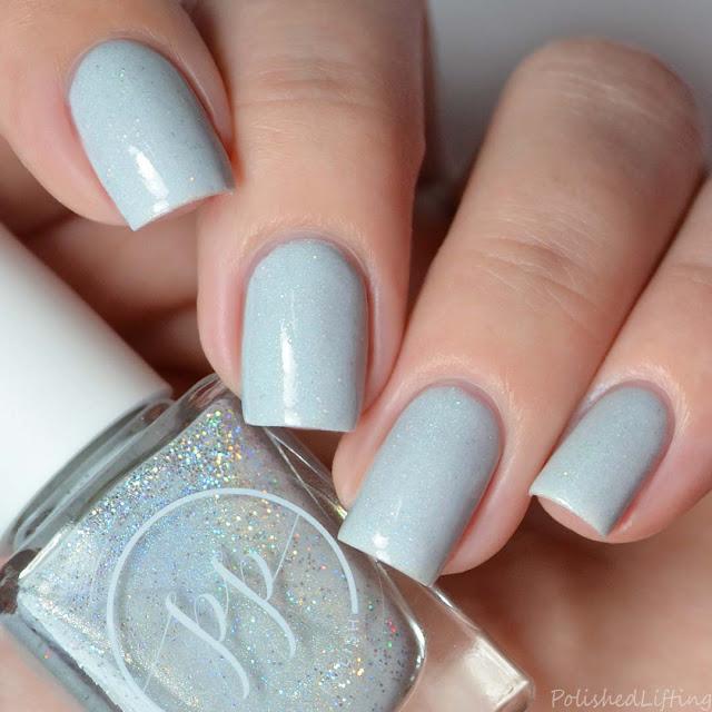white holographic nail polish