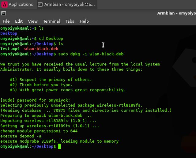 Aktifkan Wifi Internal STB HG680p di Armbian