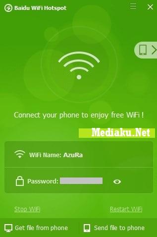 Menggunakan Baidu WiFi Hotspot