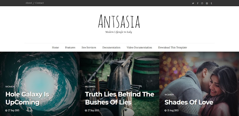Antsasia Free Blogger Template