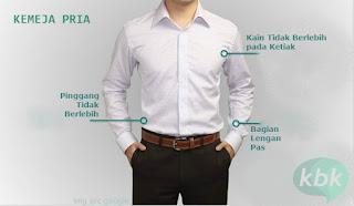 memilih kemeja pria slim fit