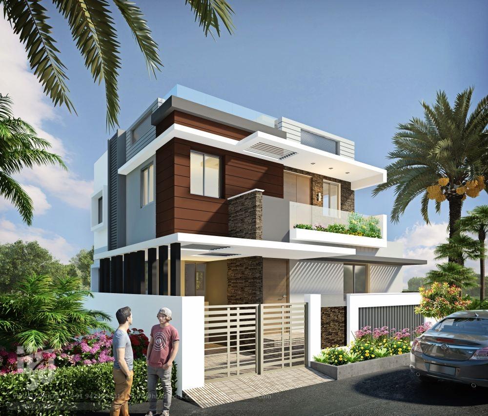 3d architectural visualization 3d exterior design day for Exterieur maison 3d