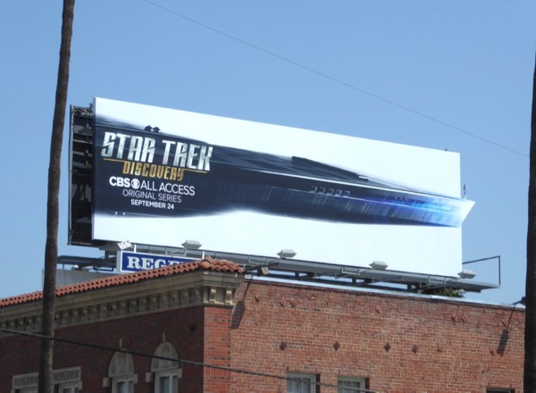 Star Trek Discovery series premiere billboard