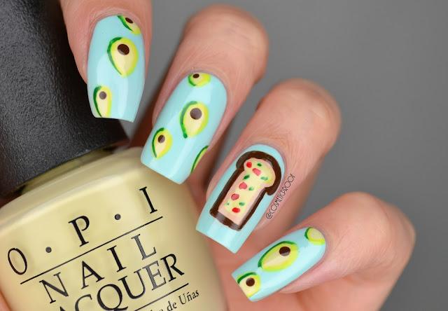 Avocado Toast Nail Art