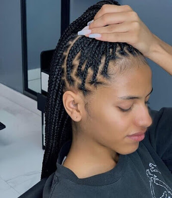 Women of interest are known to provide the spirit of creativity ✘ 23 Medium Knotless Braids Hairstyles With Ways To Rock in 2020