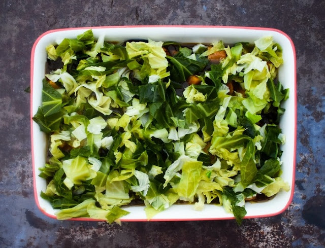 Step 8 - cabbage layer
