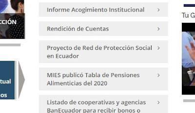 MIES TABLA DE PENSIONES ALIMENTICIAS 2020