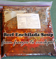 Freezer to Crockpot Beef Enchilada Soup: KidsCowsandGrass.com