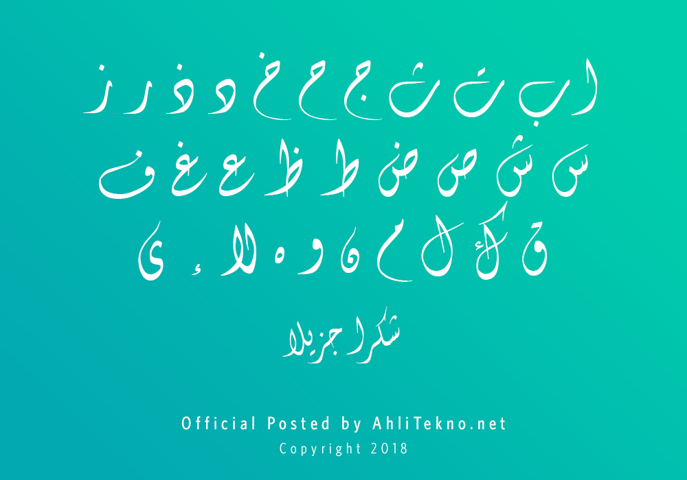 kumpulan font typography arabic keren (B Fantezy)
