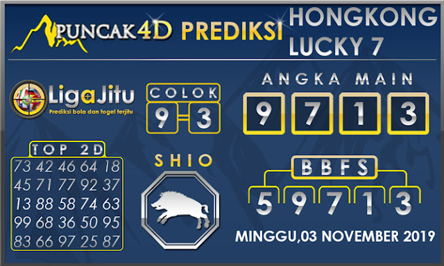 PREDIKSI TOGEL HONGKONG LUCKY7 PUNCAK4D 03 NOVEMBER 2019
