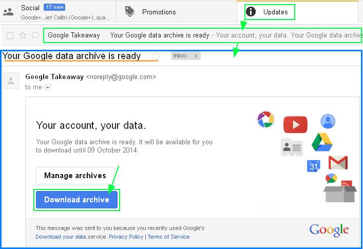 구글 계정(Account)의 데이타 다운로드 하는 방법 - 모든 데이타 또는 선택한 데이타만