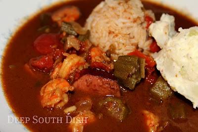 Shrimp, Andouille And Okra Gumbo Recipe — Dishmaps