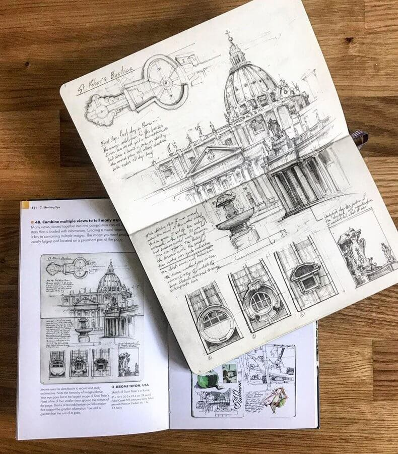 02-St-Peter-s-Basilica-Drawing-Jerome-Tryon-www-designstack-co
