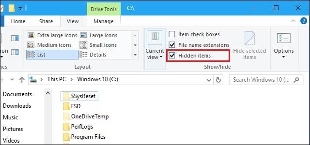 كيفية إظهار الملفات والمجلدات المخفية في أنظمة التشغيل ويندوز