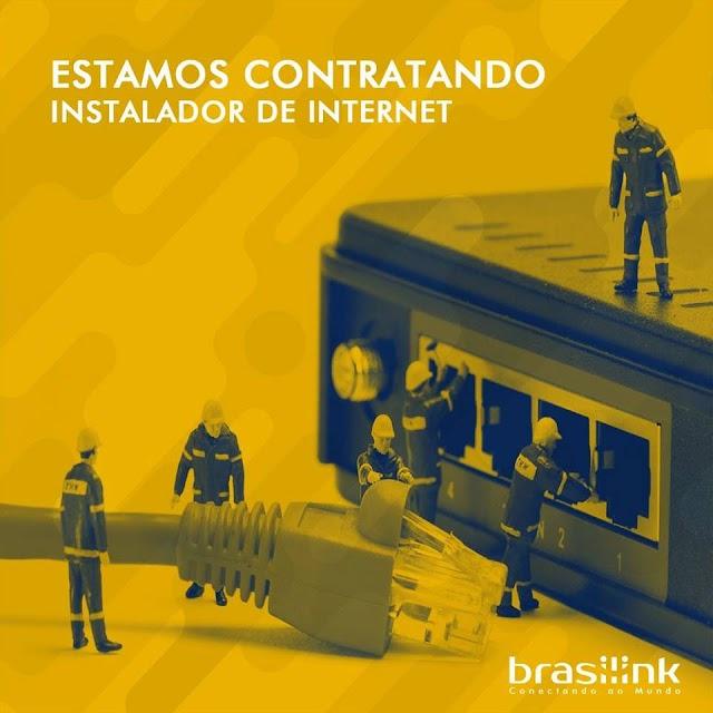 Brasilink está contratando instalador de internet para região de CHAVAL