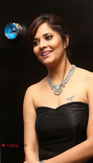 Telugu Anchor Actress Anasuya Bharadwa Stills in Strap Less Black Long Dress at Winner Pre Release Function  0014.jpg