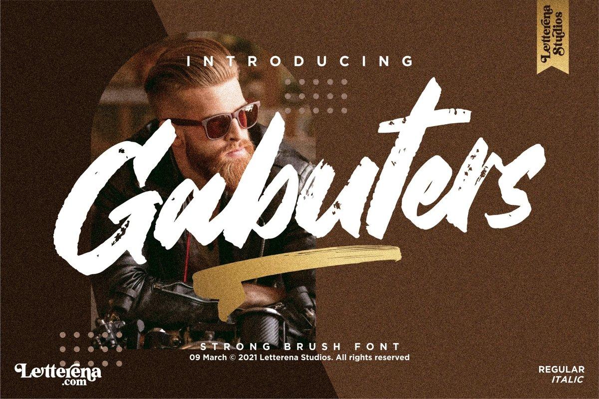 Gabuters Font - Free Brush Display Typeface
