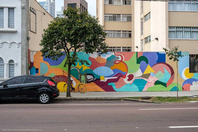 Grafite em um muro na Mateus Leme