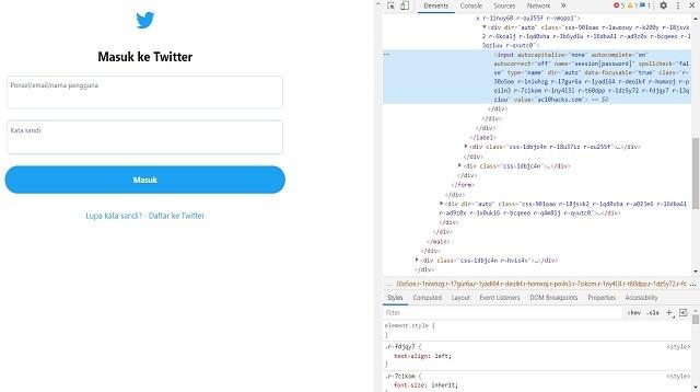 Cara Hack Akun Twitter