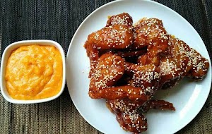 Secret recipe Richeese Fire Wings Home + style cheese sauce