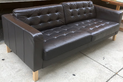 Outstanding Uhuru Furniture Collectibles Tufted Faux Leather Sofa Ncnpc Chair Design For Home Ncnpcorg