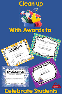 Assortment of Awards for Upper Elementary Students