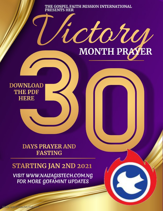 Gofamint Victory Month Prayer Bulletin 2021 [PDF]