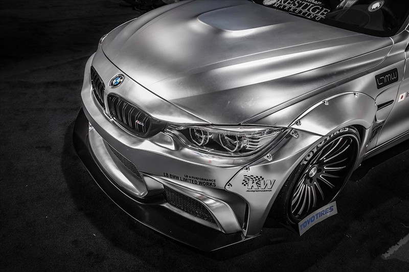 LB Performance BMW F82 M4 Rear bumper diffuser Liberty Walk