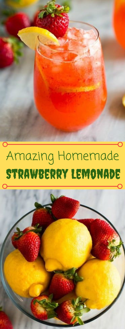 STRAWBERRY LEMONADE #drink #lemonade #strawberry #cocktail #sangria #summer