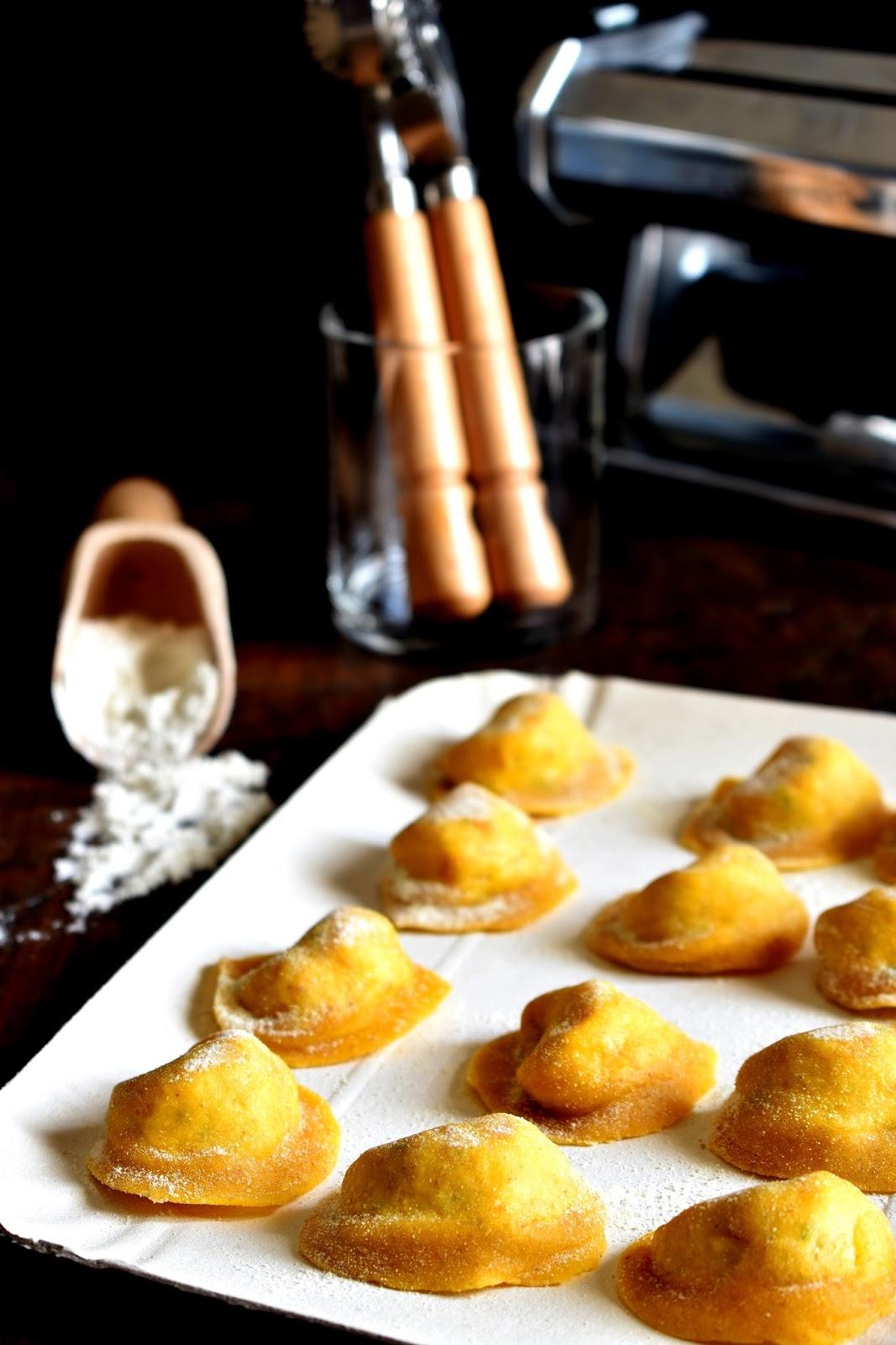 Cappellacci con ventricina, provolone piccante e patate