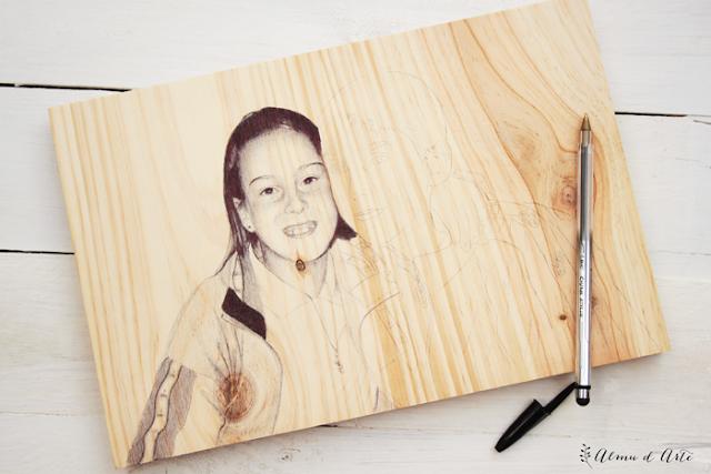 Proceso creativo de un retrato hiperrealista a boli